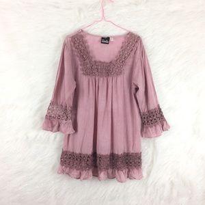 Noelle | crochet lace square neck blouse